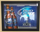 BUD LIGHT Sports Memorabilia SUPERBOWL XLVIII MIRROR